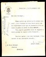 2 Lettres: Albert Lilar, Ministre Et Le Baron Pierre Nothomb, Sénateur - 1949. - Documents Historiques