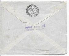 ETHIOPIE  - 1935 - ENVELOPPE RECOMMANDEE Avec TRES RARE CENSURE De ADDIS ABEBA => DJIBOUTI - Ethiopie