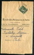 France - Type Semeuse 2cts Seul Sur Bande Journal De Paris Pour Longeville En 1935 - Ref N 69 - Marcophilie (Lettres)