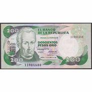 TWN - COLOMBIA 429d6 - 200 Pesos Oro 1.4.1991 UNC - Colombie