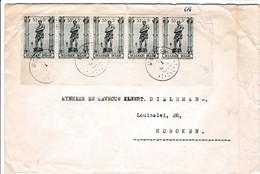 Brief Met Strook Postzegel 616 . Zie Scan. - Entiers Postaux