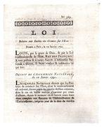 Loi Relative Aux Intérêts Des Créances Sur L'état.2 Pp.19-1-1791.AMIENS CARON - Decretos & Leyes