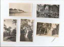 ISMAILA (EGYPTE) 5 PHOTOS ANCIENNE  PETIT FORMAT (JARDINS RESIDENCE SPHINX HOPITAL) - Places