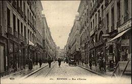 35 - RENNES - Rue D'Estrée - Enseigne Ciseau - Enseigne Montre - Rennes