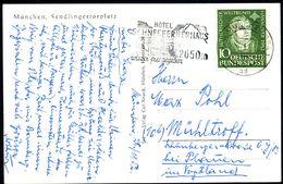 (13 B) MÜNCHEN BPA 1/ Ad/ HOTEL/ SCHNEEFERNERHAUS/ 2650m/ Wieder Frei Gegeben 1952 (27.11.) Seltener MWSt. = Hotel Schne - Stamps