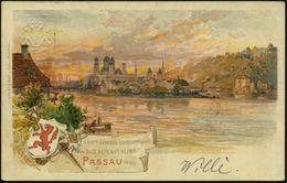 PASSAU 2 1899 (10.8.) 1K Auf PP 5 Pf. Wappen, Grün: XXVIte GENERAL-VERS. Des D.(eutschen) U. OE.(sterr.) ALPENVEREINS (O - Stamps