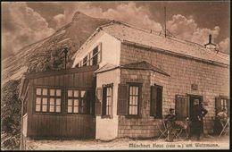 RAMSAU (OBB.) 1908 (20.8.) 1K + Viol. HdN: Münchner Haus/D.O.A.V/..Watzmann 1930 M , Monochrome Bedarfs-Foto-Ak.: Münchn - Stamps
