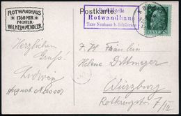 Rotwandhaus/ Posthilfsstelle/ Taxe Neuhaus B.Schliersee 1914 (29.3.) Seltener, Viol. Ra.3 = PSt.II + 1K: NEUHAUS B SCHLI - Stamps