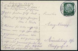 SCHNEEFERNERHAUS (2650m) ZUGSPITZE/ * 1933 (17.9.) 2K-Steg = Haus- U. Hotel-Postamt Gipfel-Hotel = Höchstes Postamt Deut - Stamps