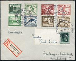 """SCHNEEFERNERHAUS-ZUGSPITZE/ Mit Der Bayer./ Zugspitzbahn 1937 (28.4.) HWSt = Hauspostamt Hotel """"Schnee-fernerhaus"""" U. Se - Stamps"""