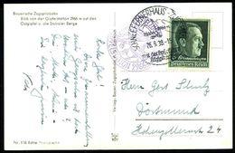 SCHNEEFERNERHAUS-ZUGSPITZE../ Mit Der Bayer./ Zugspitzbahn 1939 (26.9.) HWSt = Hauspostamt Zugspitze-Hotel + Viol. 2K-Hd - Stamps
