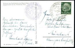 SCHNEEFERNERHAUS ZUGSPITZE/ 2650m/ Mit Der Bayerischen/ Zugspitzbahn 1941 (6.2.) HWSt = Hauspostamt Hotel U. Seilbahn-Gi - Stamps