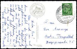 (13b) SCHNEEFERNERHAUS (ZUGSPITZE)/ 2966 M.ü.M./ BAYER.ZUGSPITZBAHN 1958 (2.9.) HWSt = Hauspostamt Gipfel-Hotel U. Seilb - Stamps