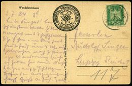 WENDELSTEINHAUS 1924 1K = Hauspostamt Berghotel Wendelsteinhaus Auf Monochromer Bedarfs-Foto-Ak.: Berghotel Wendelsteinh - Stamps