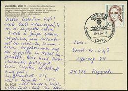 82475 ZUGSPITZE/ 2964m ü.NN/ Garmisch-Partenkirchen 1994 (19.9.) HWSt = Hauspostamt Zugspitze-Hotel (Gipfelkreuz) Glaskl - Stamps