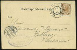 ÖSTERREICH 1899 (19.7.) Seltener 2K: KESSELFALL-ALPENHAUS = Hauspostamt + Viol. HdN: HOTEL MOSERBODEN.. KAPRUNERTHAL, Kl - Stamps
