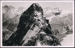 SCHWEIZ 1927 PP 40 C. Pilot, Viol.: II. Internat. Flugmeeting Zürich = Matterhorn-Gipfel (mit Flugzeug) Ungebr. - Stamps