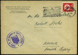 HEIDELBERG/ I/ HEIDELBERG/ RUFT:KOMM 1935 (Nov.) MWSt (Schloß) + Viol. 3K-HdN: Seminar Für Alte Geschichte Der Univeritä - Stamps