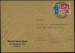 """FALLINGBOSTEL/ Luftkurort/ ..Siebensteinhäuser 1951 (28.2.) HWSt = Dolmengrab """"Siebensteinhäuser"""" , Klar Gest. Inl.-Firm - Stamps"""