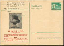 7980 Finsterwalde 1984 (Mai) Amtl. P 10 Pf. PdR, Grün + Amtl. Zudruck: 30 Jahre Verordnung..zur Erhaltung Der Ur- U.früh - Stamps