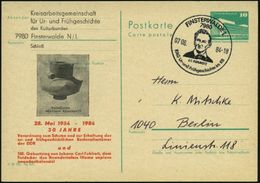 7980 FINSTERWALDE 1/ J.C.FUHLROTT.. 1984 (7.6.) SSt = Brustbild J. C. Fuhlrott = Entdecker Des Neandertalers! Auf PZD 10 - Stamps