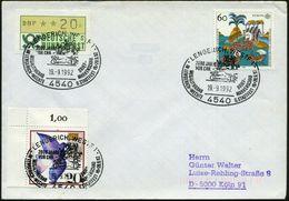 4540 LENGERICH,WESTF 1/ 2000 JAHRE/ VOR CHR./ MEGALITHGRAB/ IN LENGERICH-WECHTE.. 1992 (19.9.) SSt = Megalith-Grabanlage - Stamps