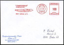 """4972 LÖHNE 1/ B06 2916/ """"LÖHNER EINBAUM""""/ GEHOBEN AM 22.4.1893.. 1989 (21.8.) AFS = """"Löhner Einbaum"""" (Ur-Schiff) Inl.-Bf - Stamps"""
