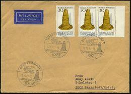 """6707 SCHIFFERSTADT 1/ GOLDENER/ HUT/ AUS DER/ BRONZEZEIT/ KULTKEGEL.. 1977 (22.10.) HWSt = """"Goldener Hut"""", 3x Auf Motivg - Stamps"""