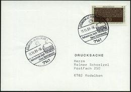 7141 STEINHEIM AN DER MURR 1/ ..Homo Steinheimensis 1981 HWSt (Rathaus, Sonne) Klar Gest. Inl.-Kt. (Bo.5) - Stamps