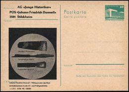 3581 Stöckheim 1983 Amtl. Inl.-P 10 Pf. PdR, Grün + Amtl. Zudruck: ..Johann Friedrich Danneil - Mitbegründer Des Drei-pe - Stamps
