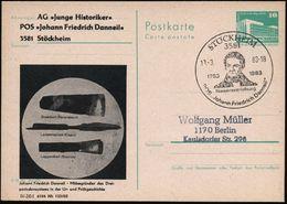 "3581 STÖCKHEIM/ 1783 1983/ ..POS ""Johann Friedr.Danneil"" 1983 (19.3.) SSt = Brustbild Danneil (= Entdecker Des Neanderta - Stamps"