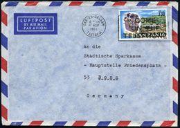 """TANSANIA 1966 (17.11.) 1 Sh./30 , EF = Schädel Des """"Zijanthropus"""" = Vor-Mensch Vor 1 3/4 Mio. Jahre , Rs. Abs.-Vordruck: - Stamps"""