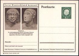 Hildesheim 1959 10 Pf. BiP Heuss III , Grün: Roemer-Pelizaeus-Museum.. =  2 ägyptische Köpfe, Ungebr. (Mi.P 41/72-429) - Stamps