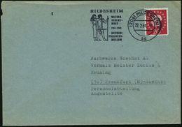 (20a) HILDESHEIM 1/ Ad/ 1911-1961/ ROEMER-/ PELIZAEUS-/ MUSEUM 1961 (22.2.) MWSt = Uhkema-Relief (alt-ägyptisches Paar)  - Stamps
