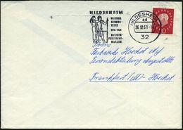 32 HILDESHEIM 1/ Ad/ 1911-1961/ ROEMER-/ PELIZAEUS-/ MUSEUM 1961 (Dez.) MWSt = Uhkema-Relief (alt-ägyptische Paar) Klar  - Stamps