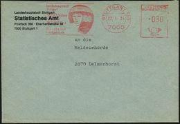 7000 STUTTGART 103/ ..5000 Jahre/ Kunst In/ ÄGYPTEN/ 18.2.-23.4. 1984 (27.1.) Seltener AFS = ägypt. Frauenkopf , Dienstb - Stamps