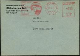 7000 STUTTGART 103/ ..5000 Jahre/ Kunst In/ ÄGYPTEN/ 18.2.-23.4. 1984 (27.1.) Seltener AFS = ägypt. Frauenkopf , Dienstb - Unclassified