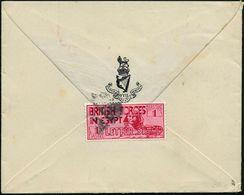 "BRIT. MILITÄRPOST ÄGYPTEN 1934 (17.11.) 1 Pia. ""Sphinx"" Karmin: ""BRITISH FORCES IN EGYPT"" + Stummer Stempel Rs. ,vs. Rot - Stamps"