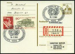 1000 BERLIN 12/ 8.INT.SAMMLER../ 20.INT.MÜNZENBÖRSE 1980 (30.3.) SSt = Alt-griech. Münze Mit Zeuss 2x + RZ: 1 Berlin 12/ - Stamps