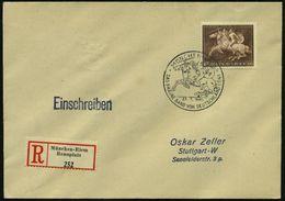 """MÜNCHEN-RIEM/ DAS BRAUNE BAND VON DEUTSCHLAND 1941 (27.7.) SSt = 2 Amazonen Zu Pferd Auf Motivgl. EF 42 Pf. """"Braunes Ban - Stamps"""