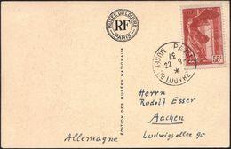 FRANKREICH 1937 (22.8.) 30 C. U. 55 C. Nike Von Samothrake = Kompl. Satz ,2 Dekorat., Motivgl. Ak., Je 1K: PARIS/MUSEE D - Stamps