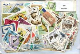 Lot 300 Timbres Thème Animaux - Timbres