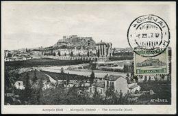 """GRIECHENLAND 1927 (6.12.) 2 Dr. """"Akropolis"""", EF , Gest. ATHEN, Maximum-Karte (Mi.312) - Stamps"""