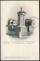GRIECHENLAND MILITÄRPOST 1919 (18.1.) 10 L. Hermes, Rot + 10 L. Blinddruck-BiP: ATHENES - LE MONUMENT DE LYSICRATE , Rs. - Stamps