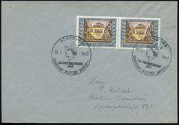 AUGSBURG/ TAG DER BRIEFMARKE.. 1943 (10.1.) SSt = Merkurkopf 2x Auf Paar 6 Pf.+ 24 Pf. Tag Der Briefmarke (Mi.828 MeF) P - Stamps