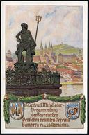 BAMBERG/ 18.MITGL.VERS/ D.B.VERK.BEAMT. 1913 (20.4.) Seltener SSt (Ra.4) Auf Passender PP 5 Pf.Luitpold, Grün: NEPTUN-Br - Stamps