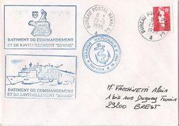 MARCOPHILIE NAVALE BATIMENT DE COMMANDEMENT ET DE RAVITAILLEMENT SOMME SEPTEMBRE 1995 - Postmark Collection (Covers)