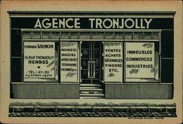 35 - RENNES - Carte Pub - Agence Immobilière - Rue Tronjolly - Rennes