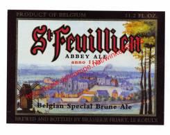 St Feuillien - Bière D'Abbaye - Abdijbier - Brasserie Friart Le Roeulx - Bier