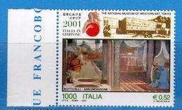 Italia ** - 2001 - Italia In GIappone - Unif. 2555.  Vedi Descrizione. - 6. 1946-.. Repubblica